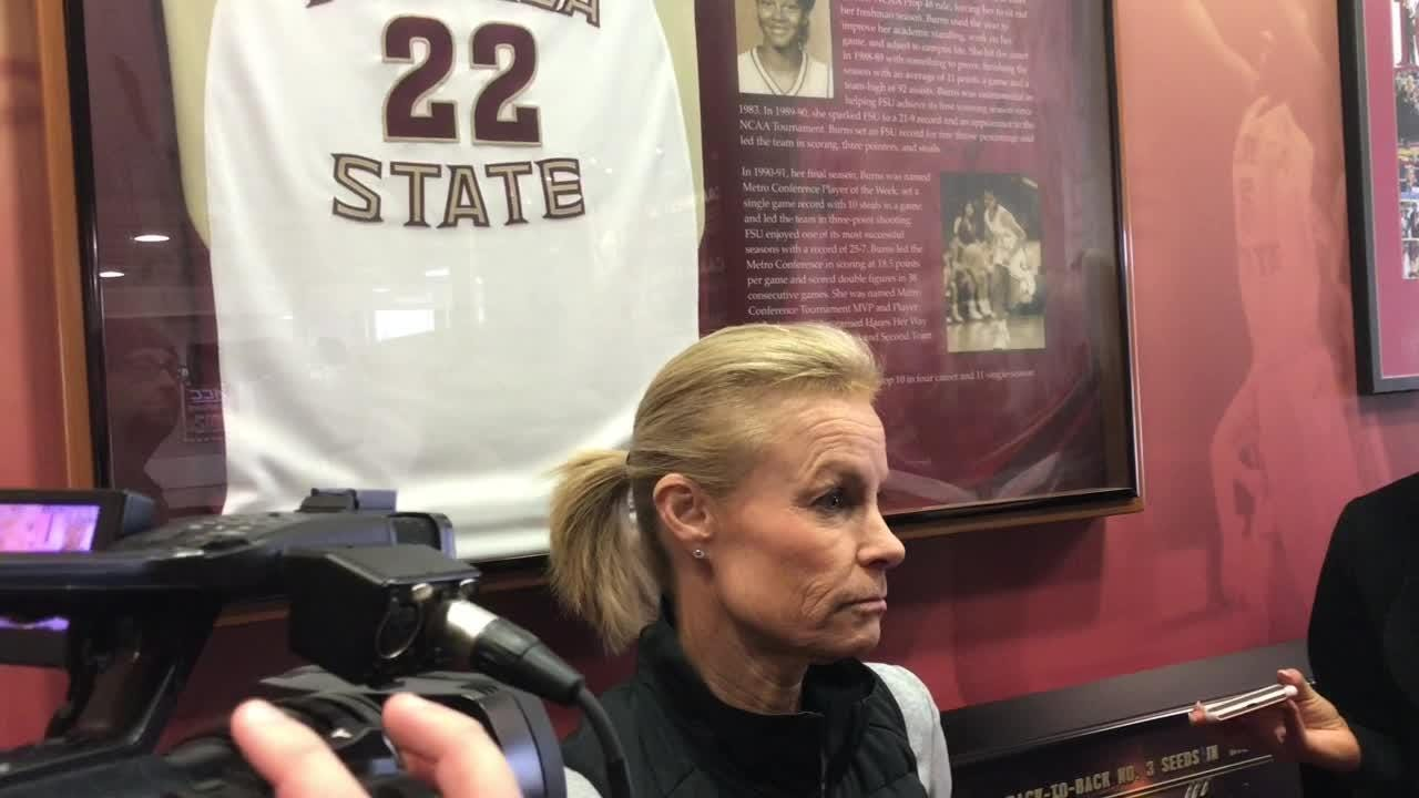 The Seminoles have just eight healthy players after Amaya Brown suffered a season-ending knee injury Sunday at Virginia Tech.