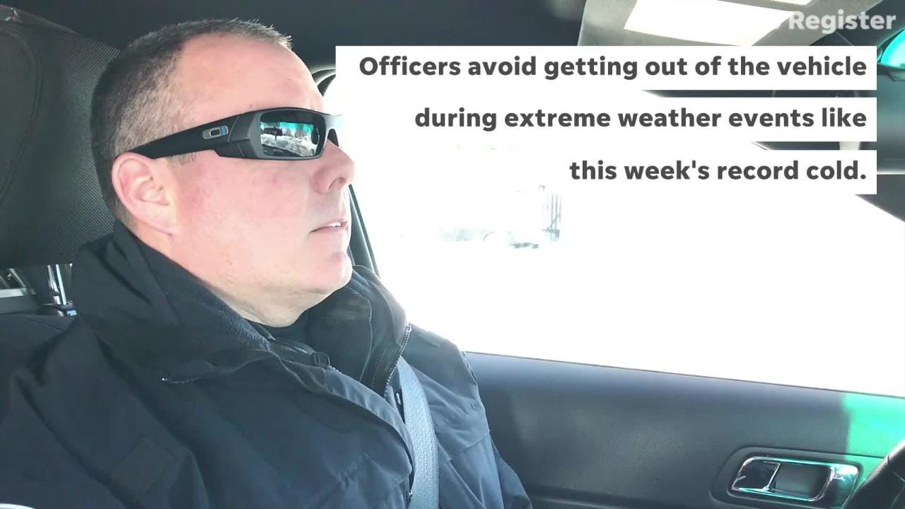 Indianola Police Department Lt. Rob Hawkins says he's never seen such extreme cold in his 21 years as a cop.