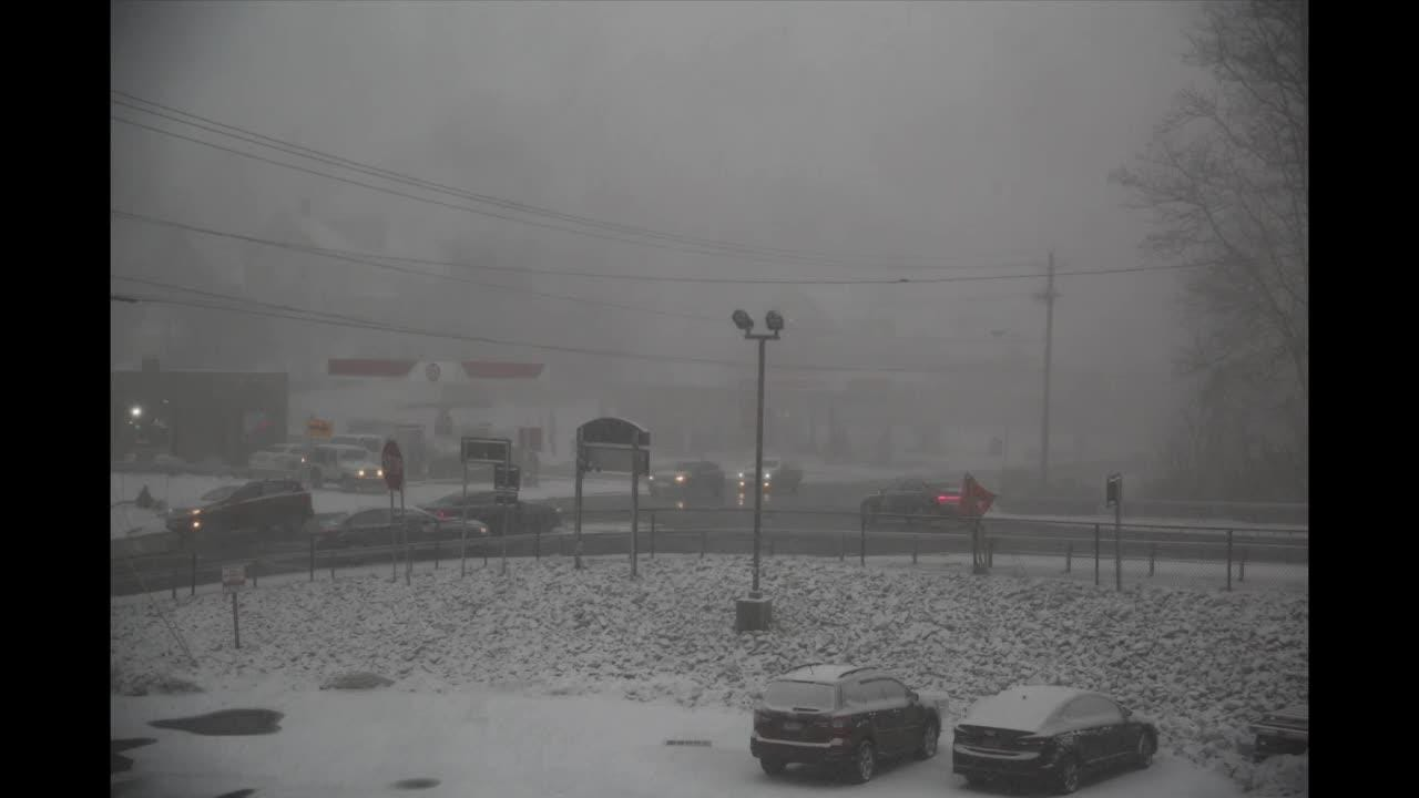 Video: Blue sky leads to whiteout in Brewster