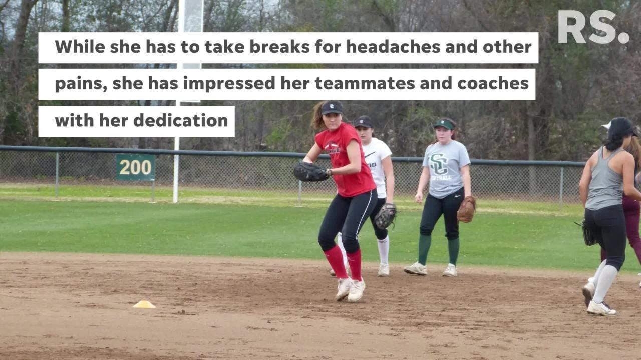 Marissa Hopkins was diagnosed in the fall, had treatment in the winter and is now back to practicing and playing with the team.