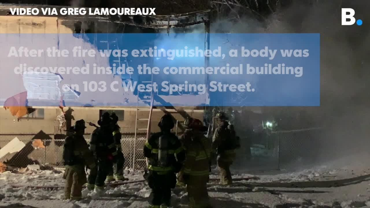 Fire crews made a gruesome discovery at a fire Wednesday night, Jan. 30, 2019, uncovering a body in a commercial building on West Spring Street.