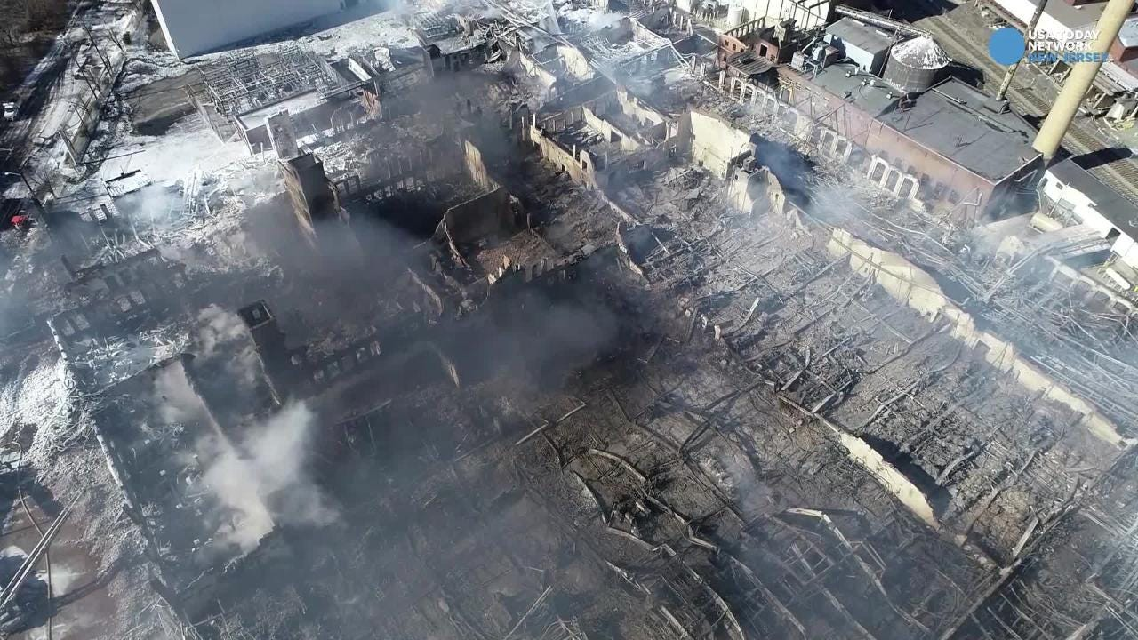 separation shoes 4fd44 0f953 Marcal factory fire: Before and after aerial images