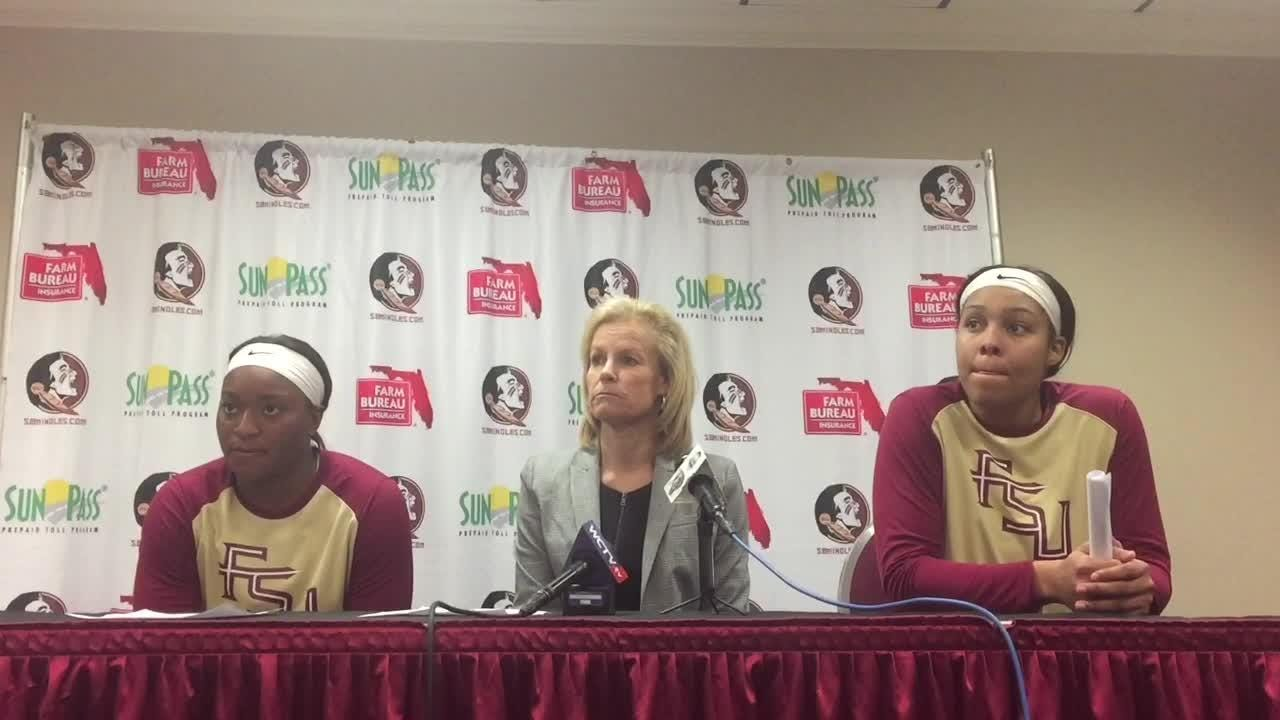 The Seminoles forced 23 turnovers to win their ninth consecutive regular-season game against Miami.