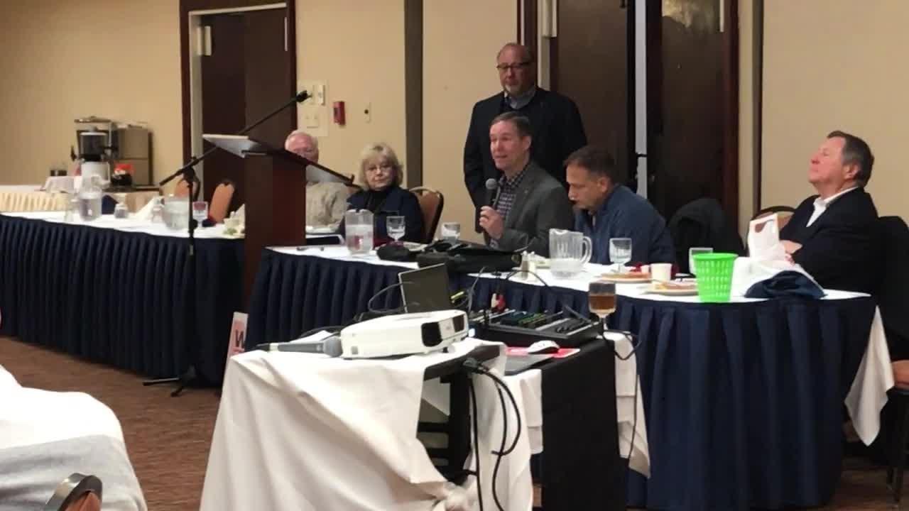 Tribe radio voice Jim Rosenhaus at Talkin' Tribe luncheon on Jose Ramirez' tailspin at end of last season
