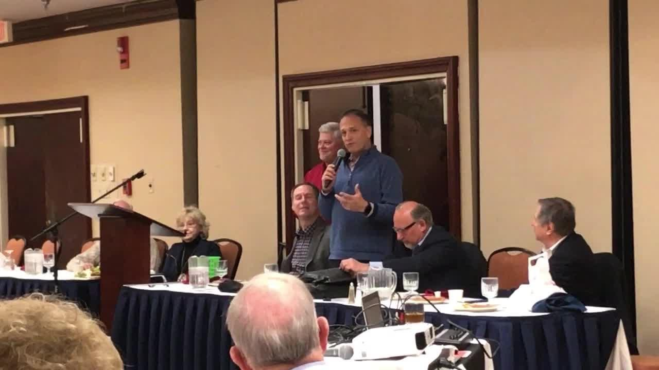 """Cleveland Indians broadcaster Matt Underwood on the history of """"Take Me Out To The Ballgame"""" at Talkin' Tribe luncheon"""