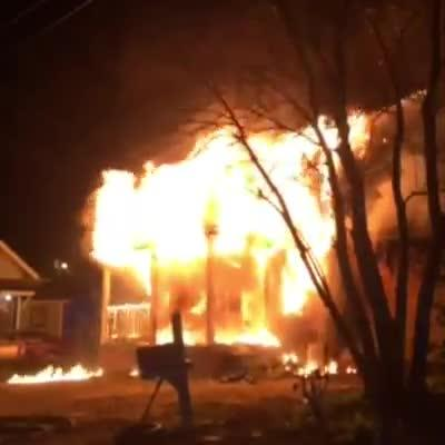 The home is the third overnight fire for the Montgomery Fire Department