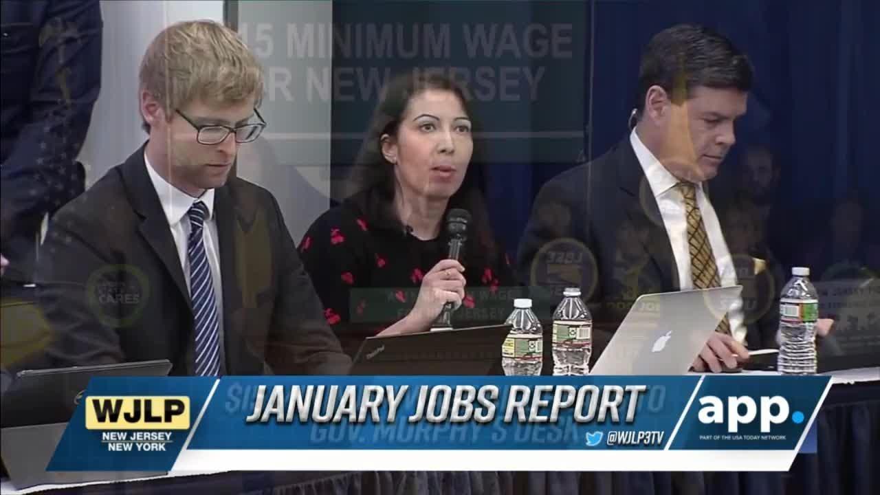 January jobs report; NJ passes minimum wage hike