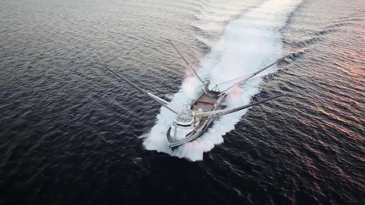 See video footage of Mr. Steven, SpaceX's rocket hardware-catching ship, out on the ocean.