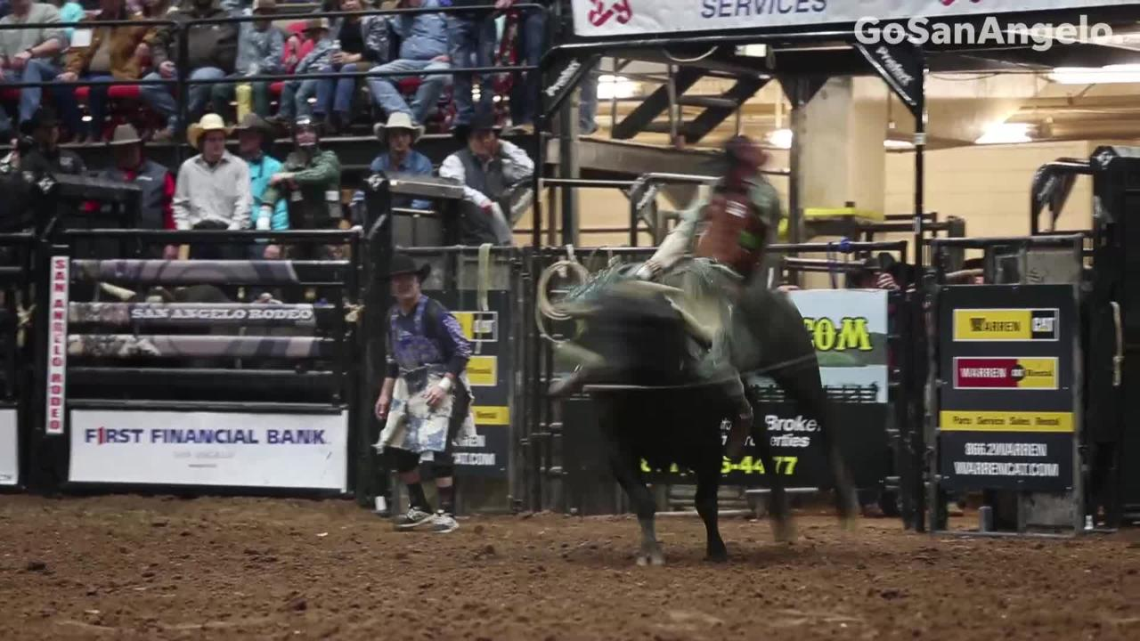 Spills, thrills in bull rides at San Angelo Stock Show and Rodeo