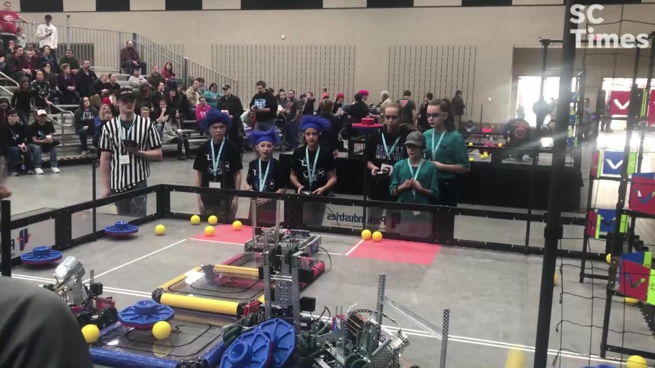 170 teams competed in the annual VEX Robotics Competition Saturday at River's Edge Convention Center in St. Cloud, Minnesota.