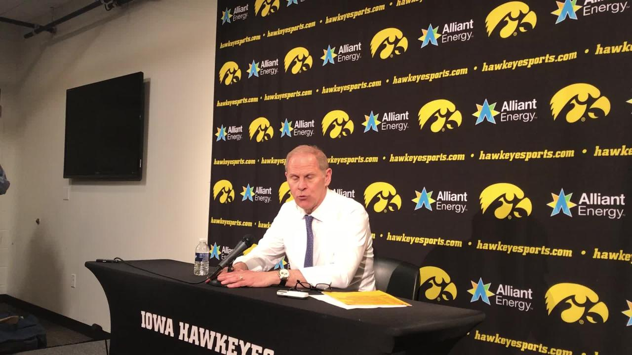 Michigan coach John Beilein says loss to Iowa feels similar to previous trips to Iowa City, and praises the Hawkeyes as underrated Feb. 1, 2019.