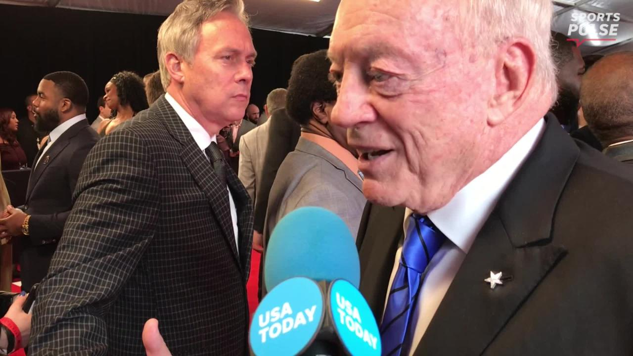 Jerry Jones spoke with media on the red carpet of the NFL Honors ceremony where he was asked about the contract situation of head coach Jason Garrett.