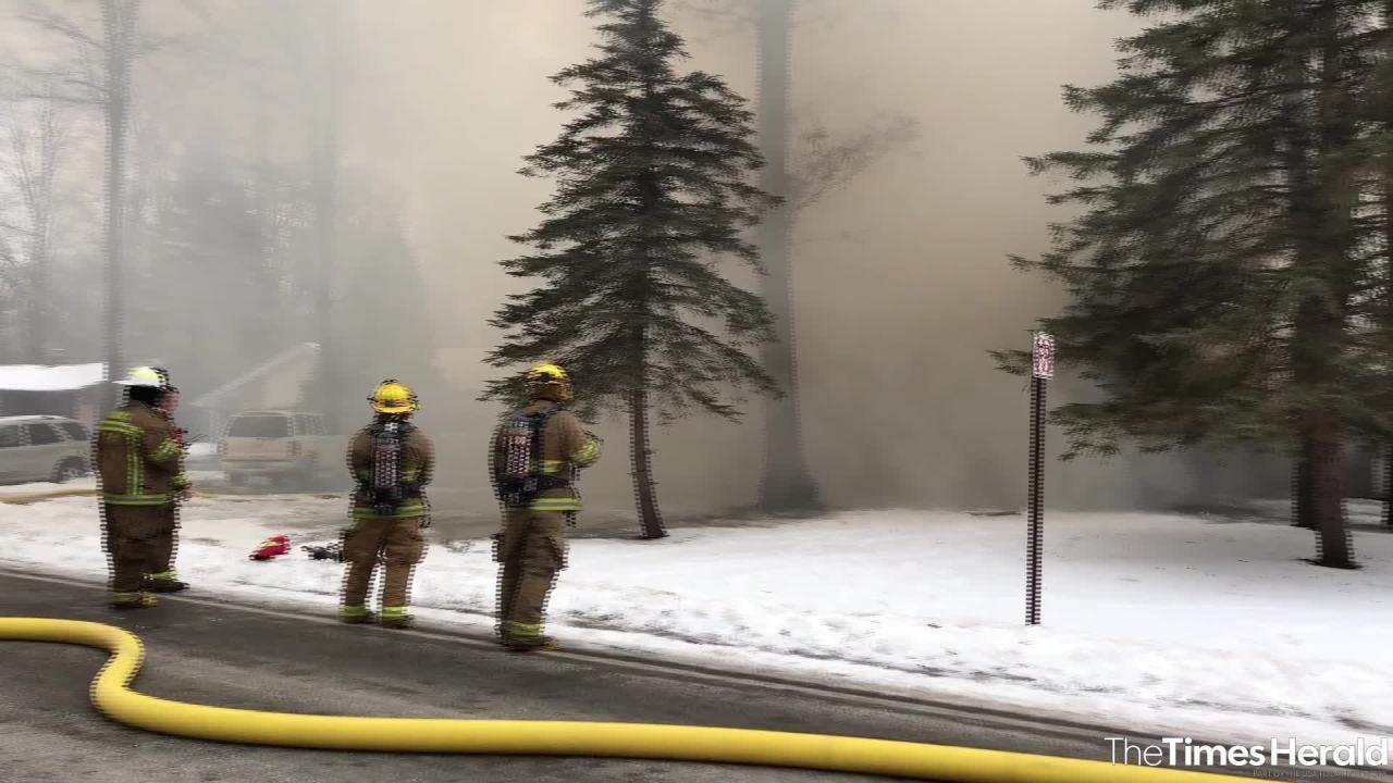Crews are on the scene of a fire in Kimball Township Saturday, Feb. 2, 2019.