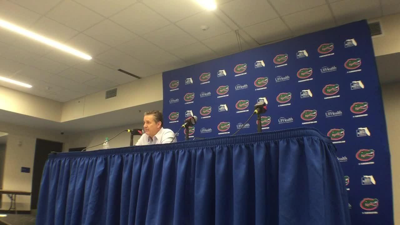 Kentucky basketball coach John Calipari's postgame news conference after win at Florida.