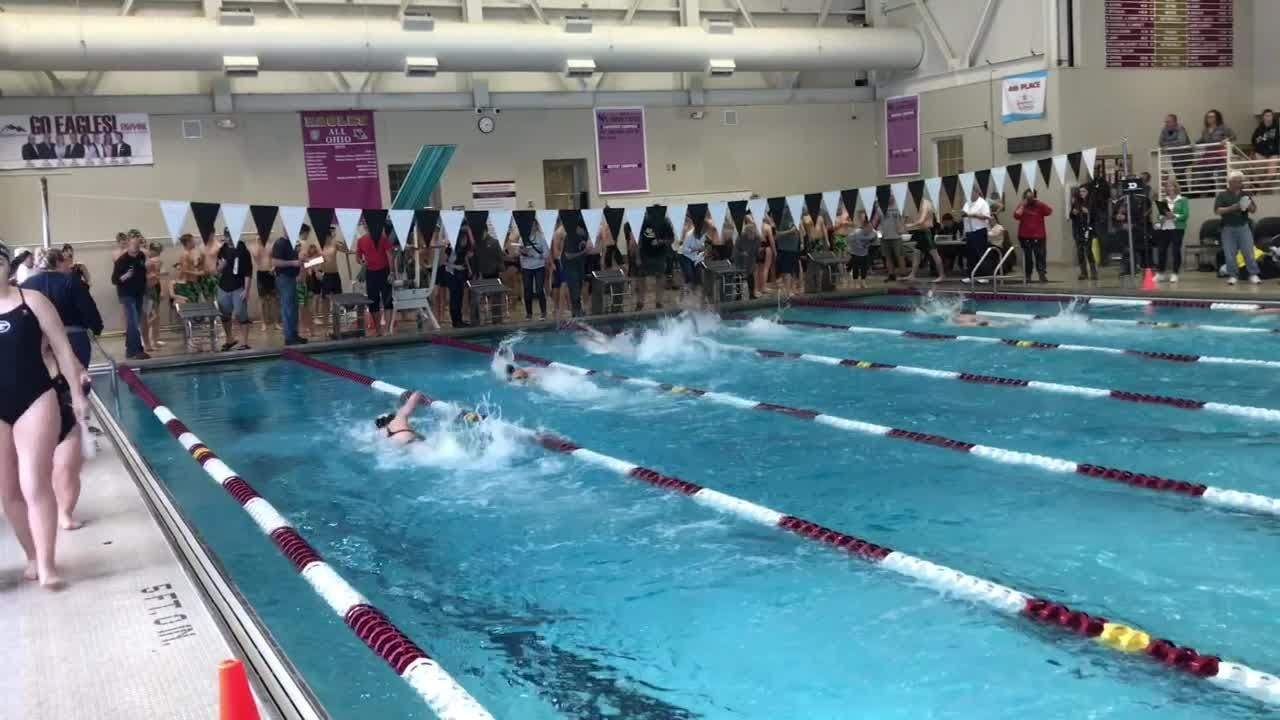 Races came down to the wire during Saturday's Licking County League championships.
