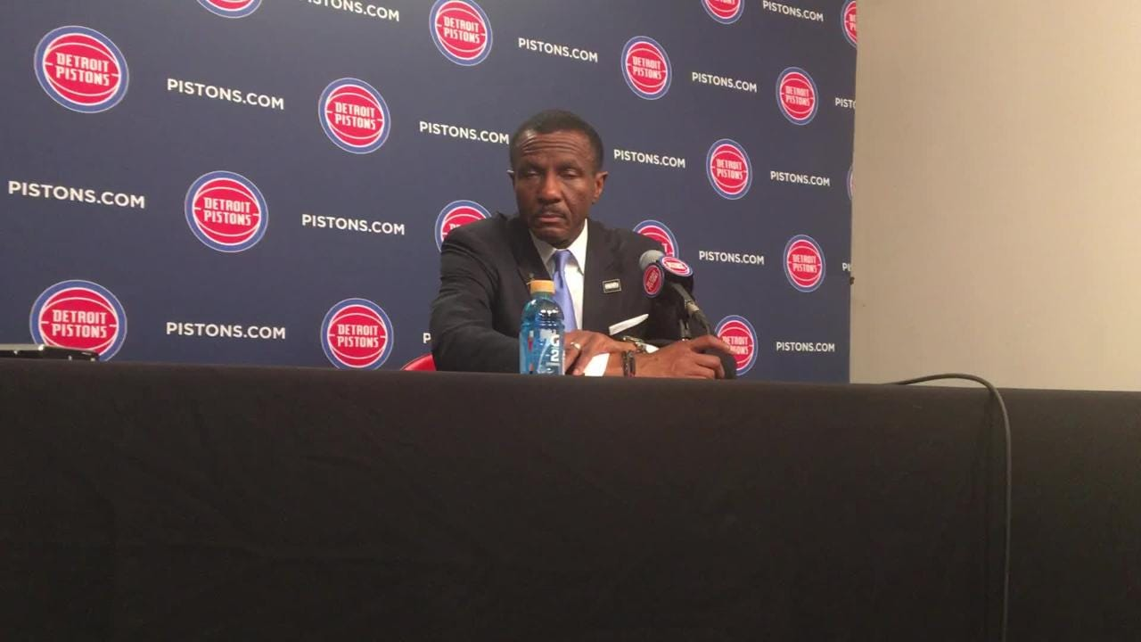 "Dwane Casey calls Pistons blowing 25-point lead to Clippers in loss ""devastating"" on Feb. 2, 2019 at LCA."