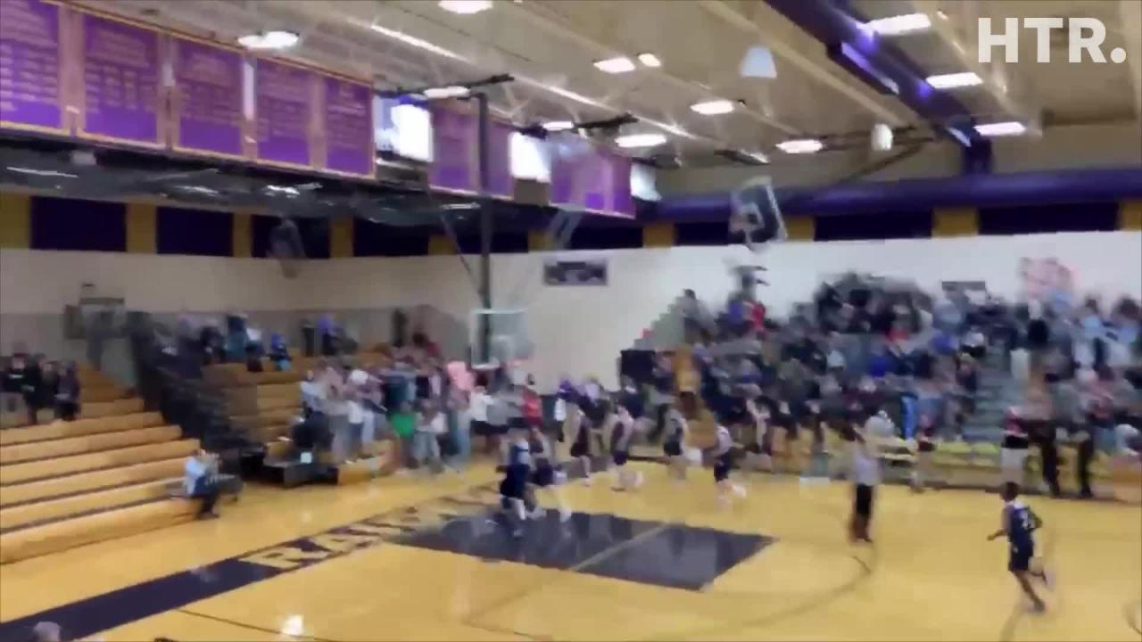 Roncalli's Ian Behringer hit a 3/4 court buzzer beater Friday against Roncalli