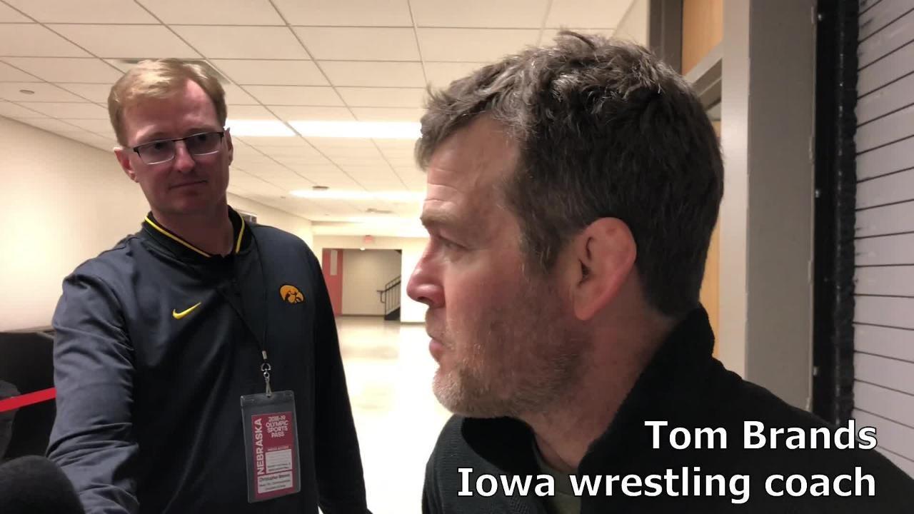 Iowa wrestling coach Tom Brands recaps the Hawkeyes' win over Nebraska on Sunday in Lincoln.