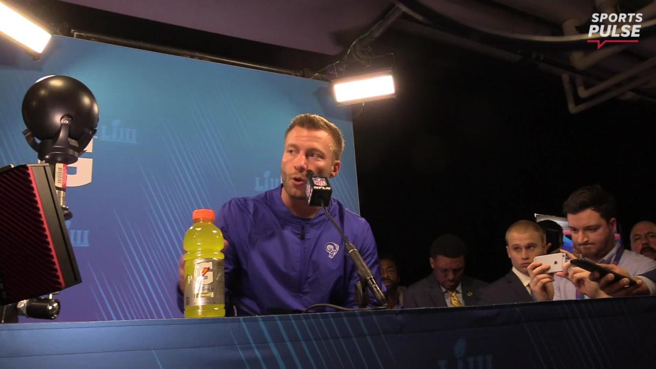 Sean McVay and Jared Goff spoke with media after Super Bowl LIII, where they talked about the Ram's painful loss and Todd Gurley's health.