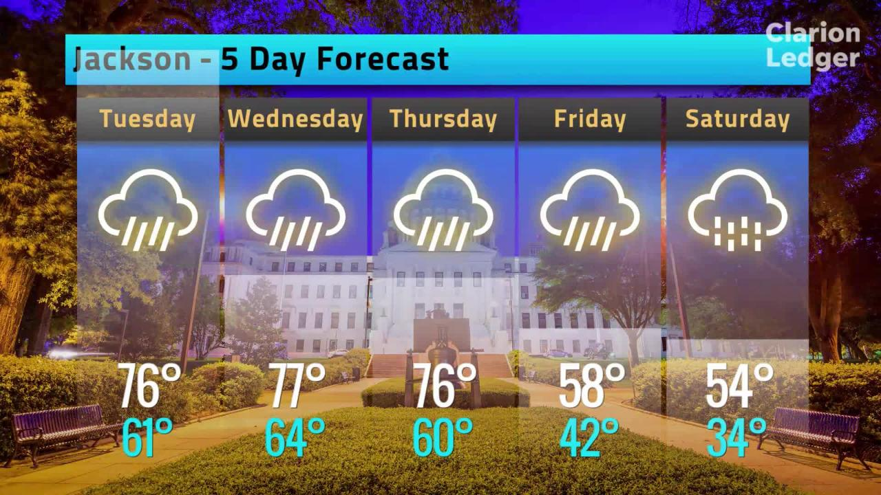 Jackson Weather Forecast, Monday, Feb. 4