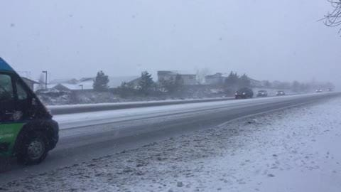 Video of Mt. Rose Highway across from Galena High School at 10:30 a.m. Monday Feb. 4