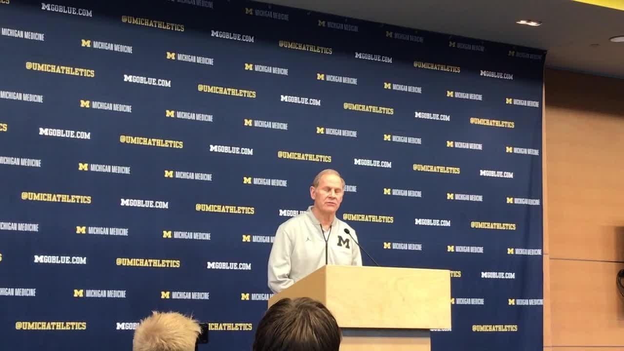 Michigan basketball coach John Beilein speaks to the media on Monday, Feb. 4, 2019, in Ann Arbor.