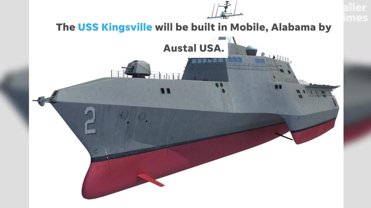 The new vessel is named in honor of the city of Kingsville and its longtime support of the military.