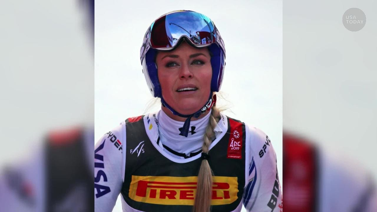 It was supposed to be a happy farewell, but Lindsey Vonn crashed in her opening race at skiing's World Championships as compatriot Mikaela Shiffrin triumphed in Sweden.