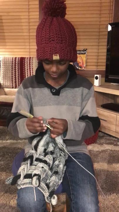 Jonah Larson, crochet prodigy, will write his autobiography