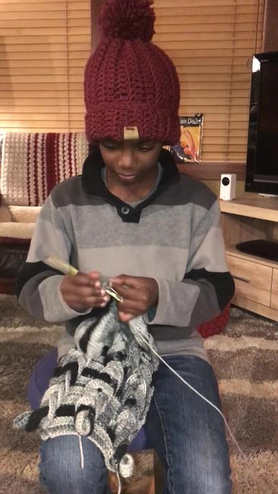 11-year-old Jonah Larson's Instagram focuses on his crochet skills. Watch him show off how good he is.