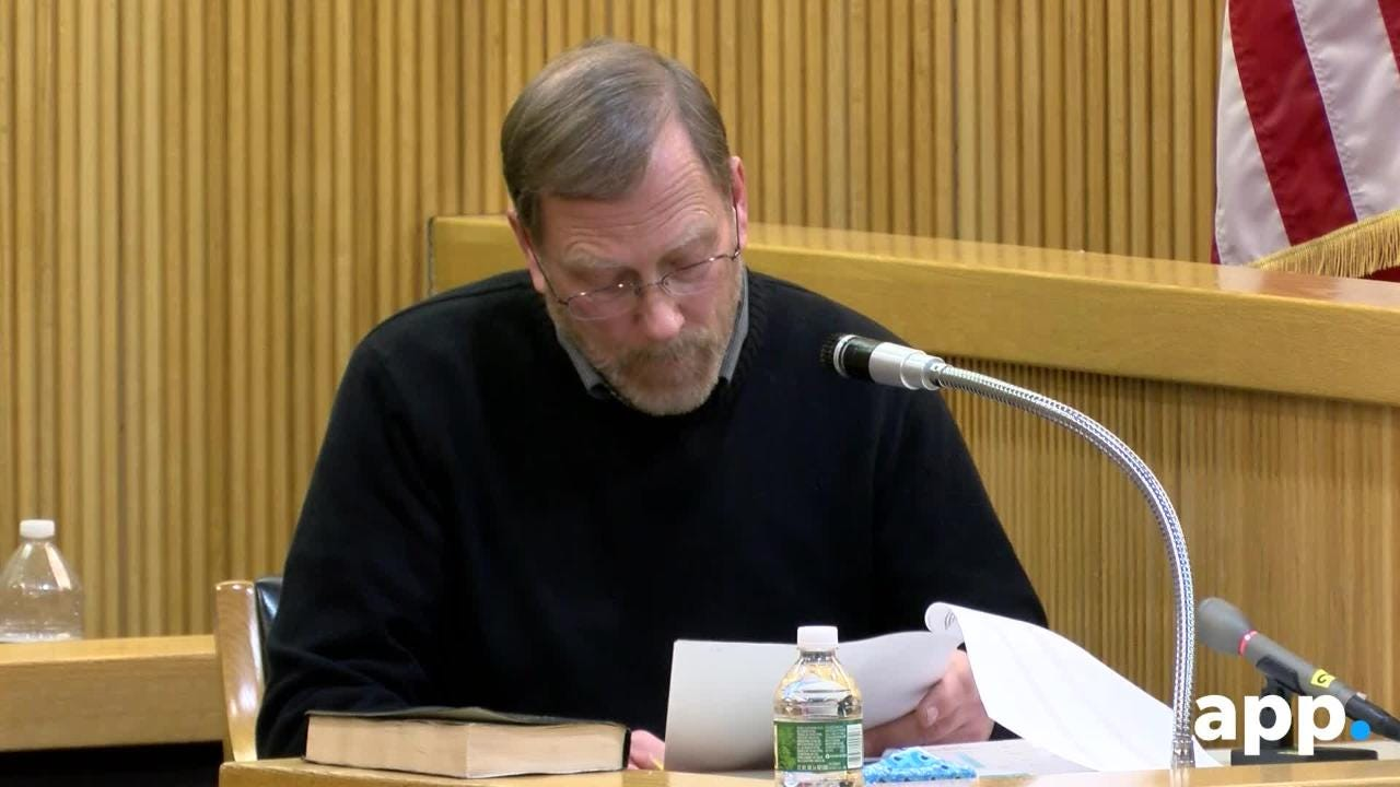 Michael Stern reads list of calls made from house phone to Liam McAtasney's cellphone.