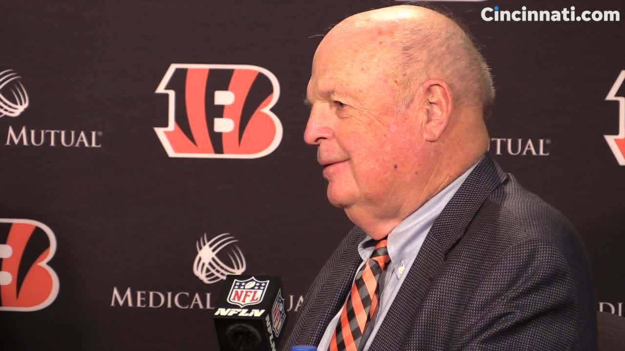 Cincinnati Bengals owner Mike Brown talks about the team's move away from former head coach Marvin Lewis.
