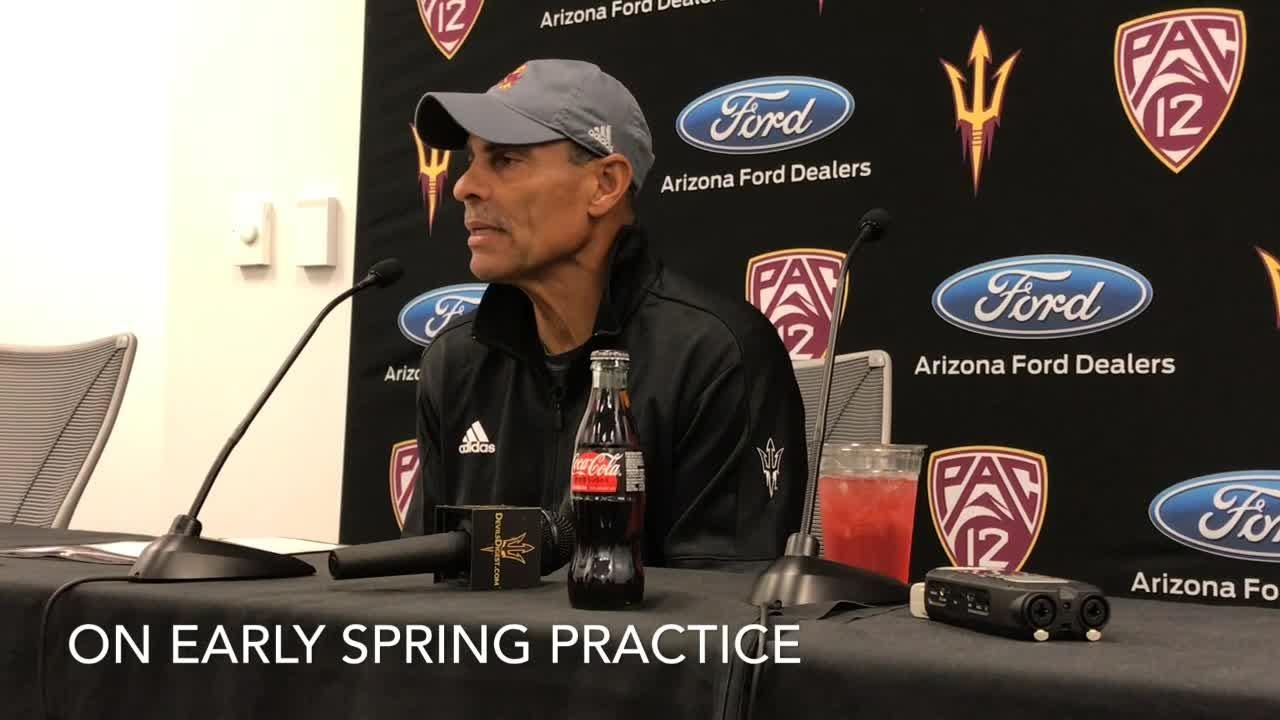 ASU football coach Herm Edwards on opening of spring practice