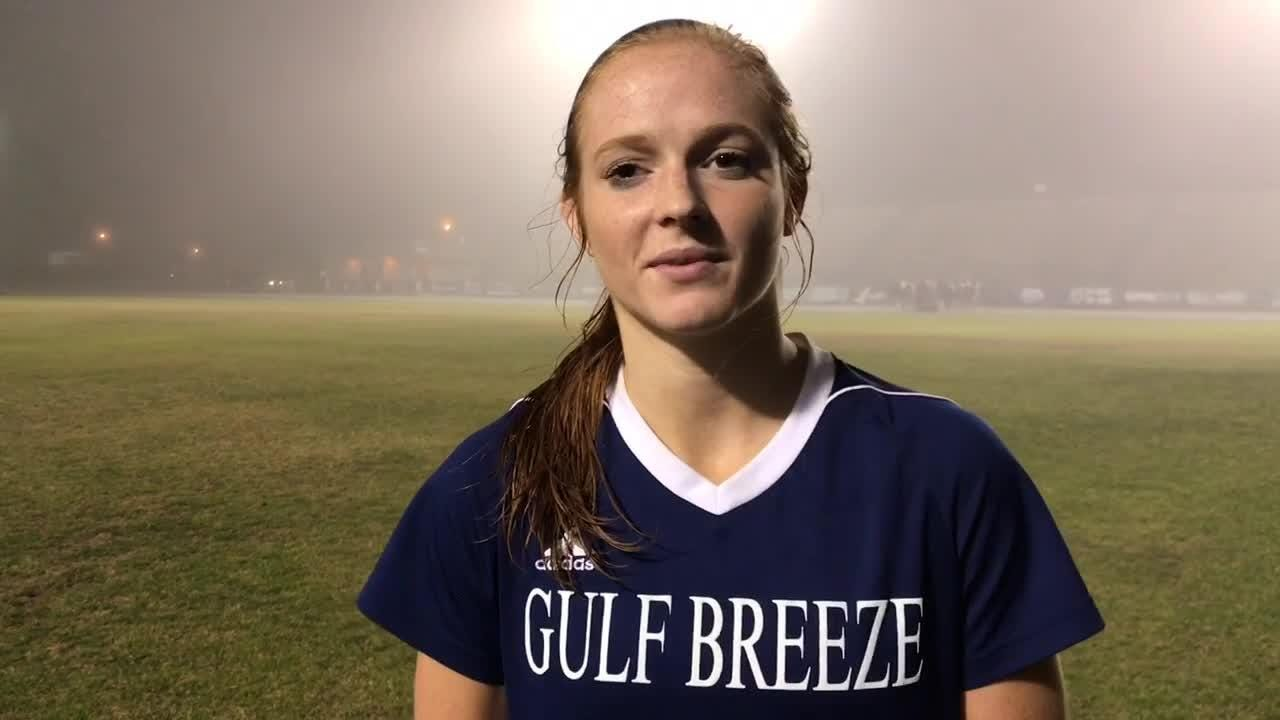 Gulf Breeze junior and UAB commit Kristen Goodroe has been key for the Dolphins this season.