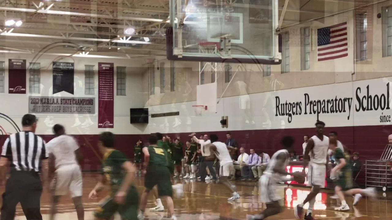 The Montgomery boys basketball team defeated Rutgers Prep 60-56 to win the Skyland Raritan Division title on Tuesday, Feb. 5, 2019.
