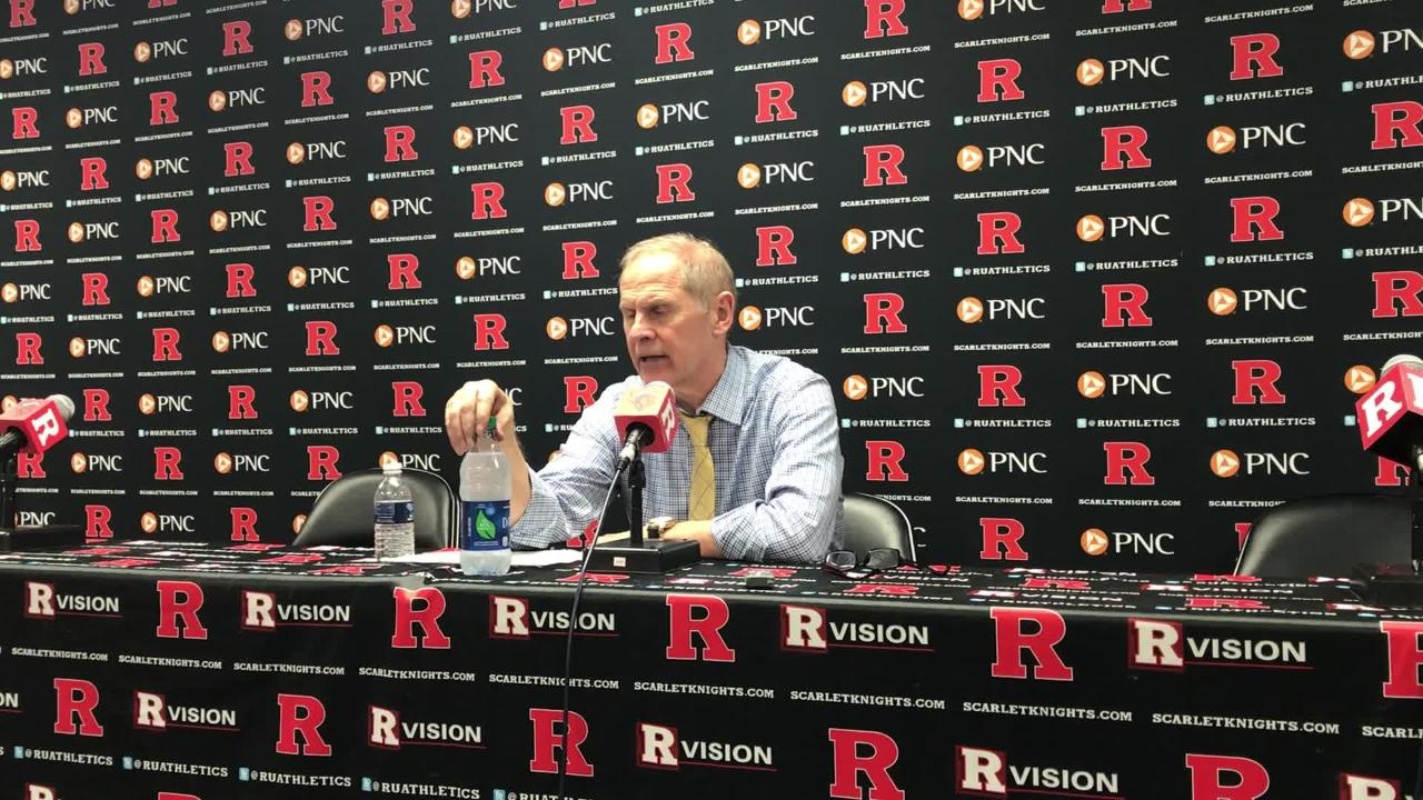 Michigan basketball coach John Beilein speaks to the media after the 77-65 win over Rutgers on Tuesday, Feb. 5, 2019, in Piscataway, N.J.