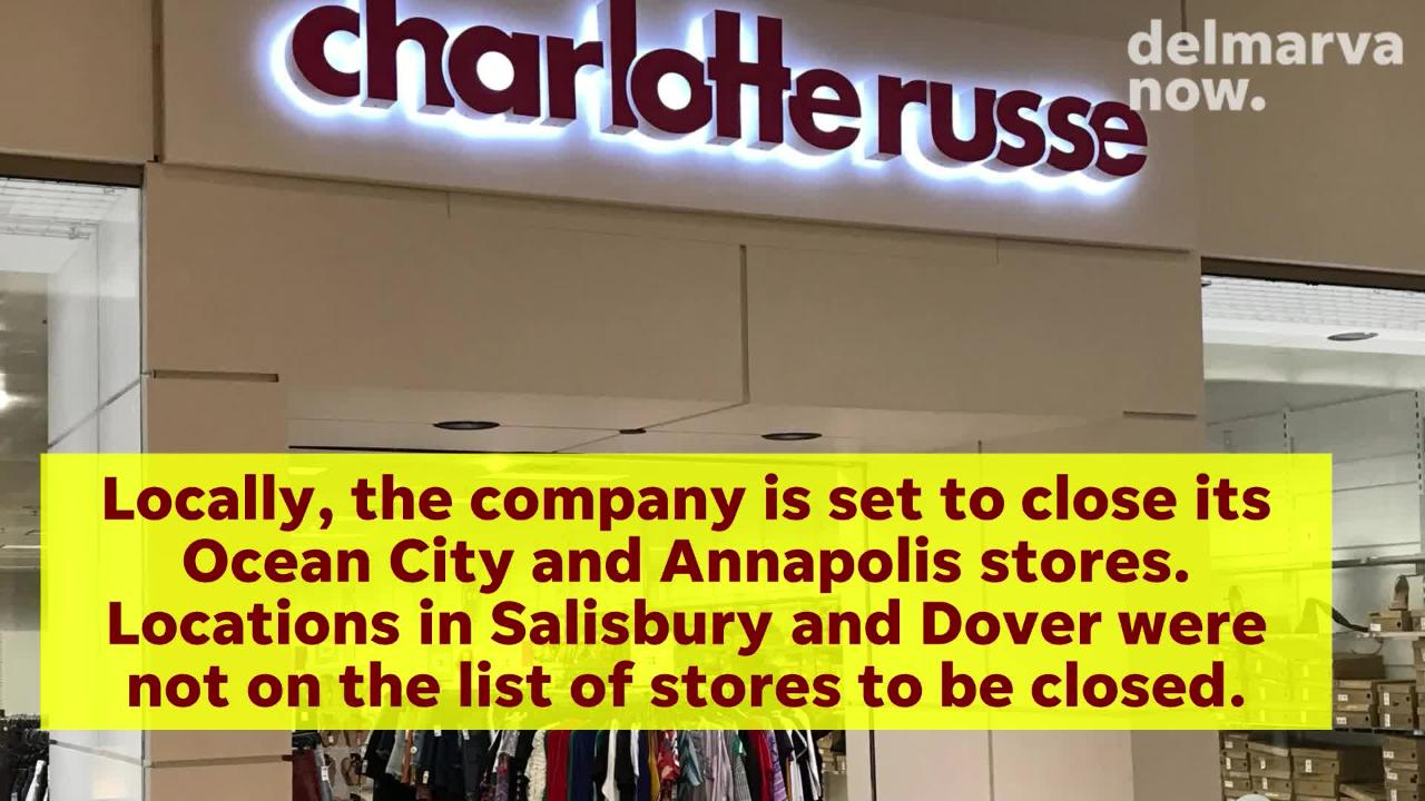 Locally, the company is set to close its Ocean City & Annapolis stores. Locations in Salisbury and Dover were not on the list of stores to be closed.