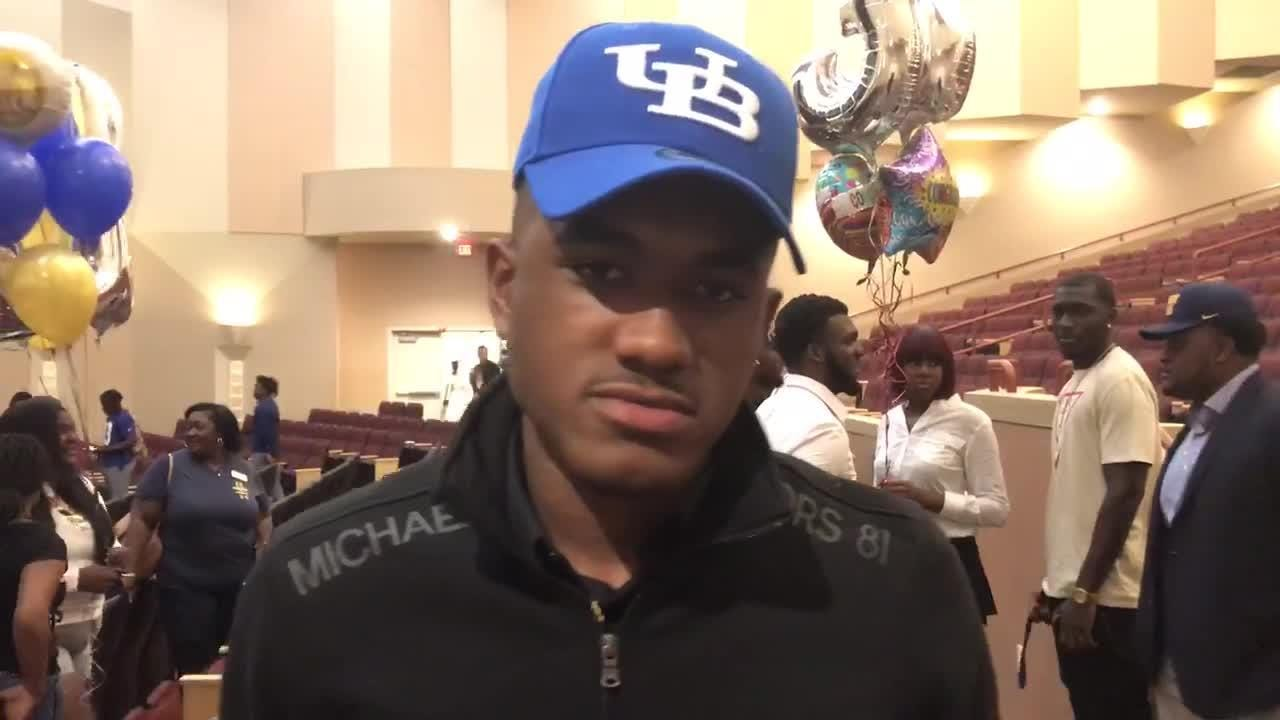Vero Beach High WR Javien Cuff talks about signing with the University of Buffalo on National Signing Day.