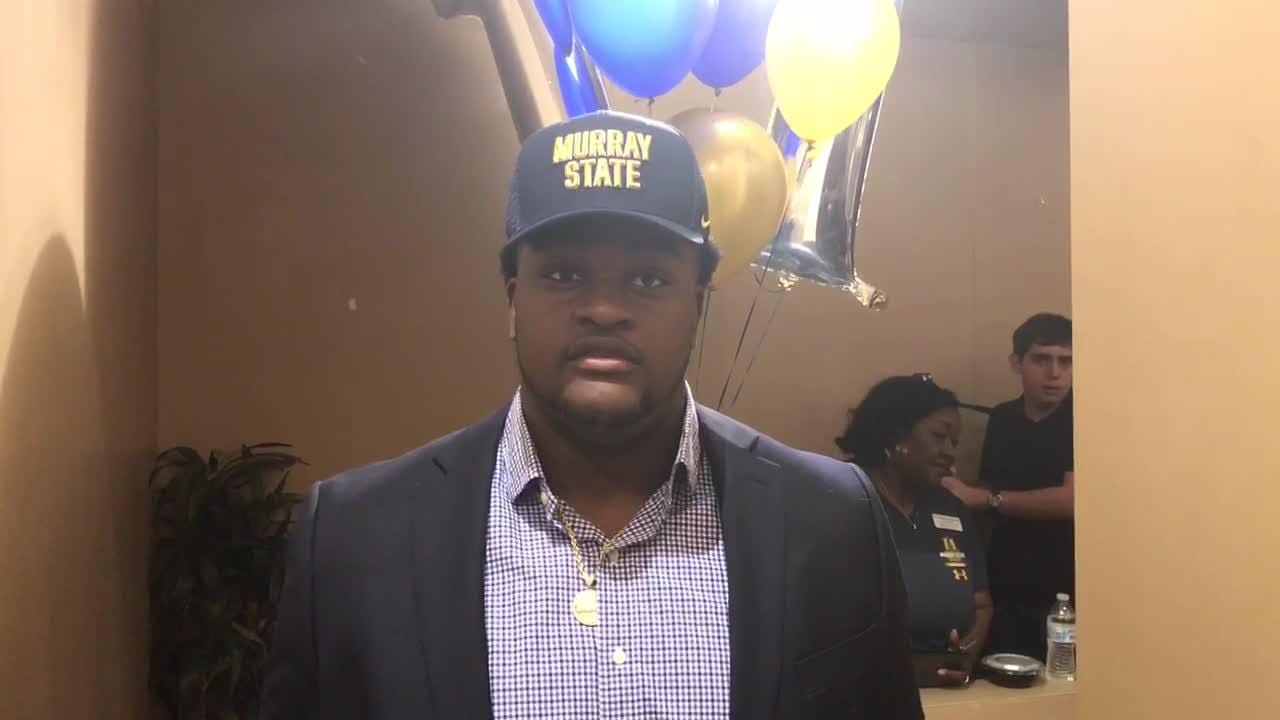Vero Beach High defensive lineman Grayson Long talks about signing with Murray State on National Signing Day.