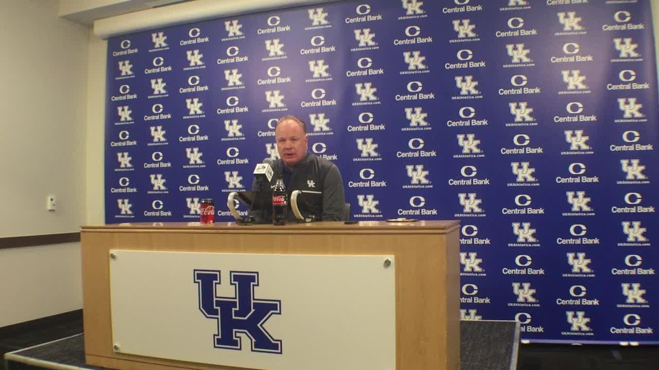 Mark Stoops' 2019 signing day news conference.