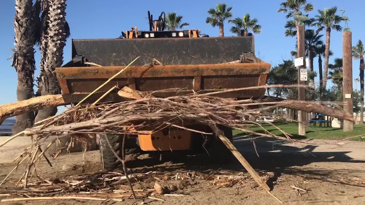 Starting near Surfers Point in Ventura and ending at Marina Park, crews cleaned beaches of storm debris.