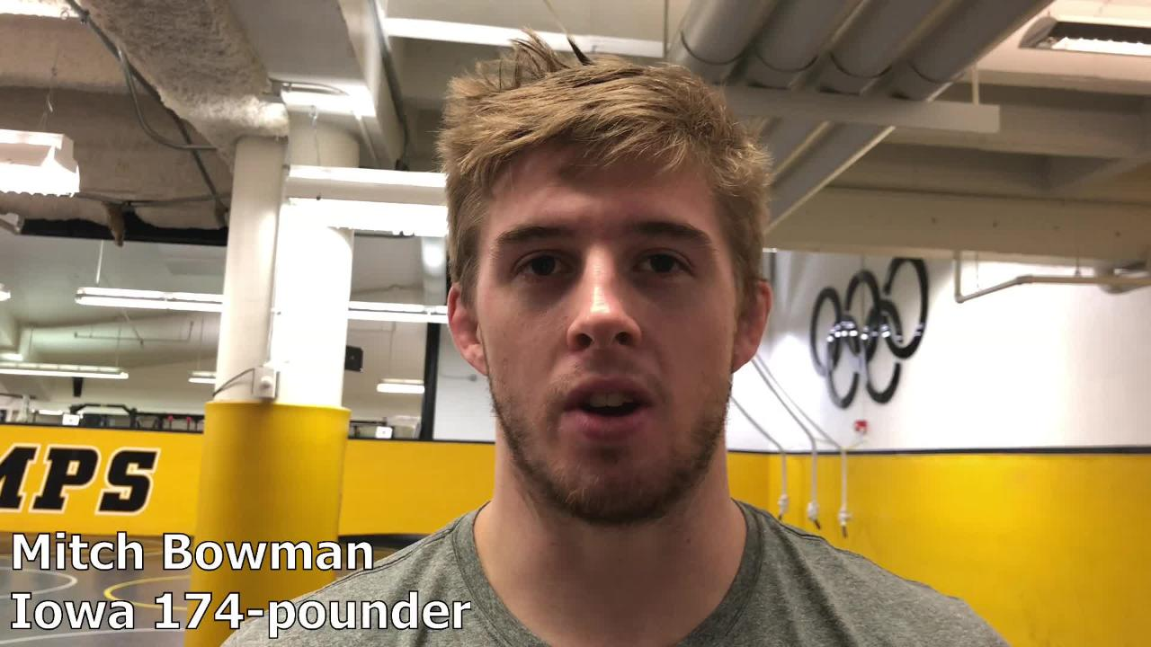 Iowa senior Mitch Bowman only has a couple of opportunities left to wrestle inside Carver-Hawkeye Arena as a Hawkeye wrestler.