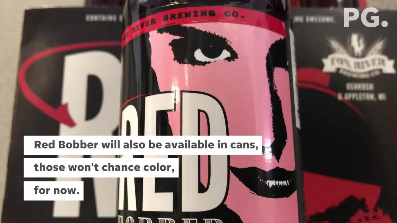 Fox Brewing River adds a color changing label on its latest beer, Red Bobber, to generate some buzz and have a little fun.