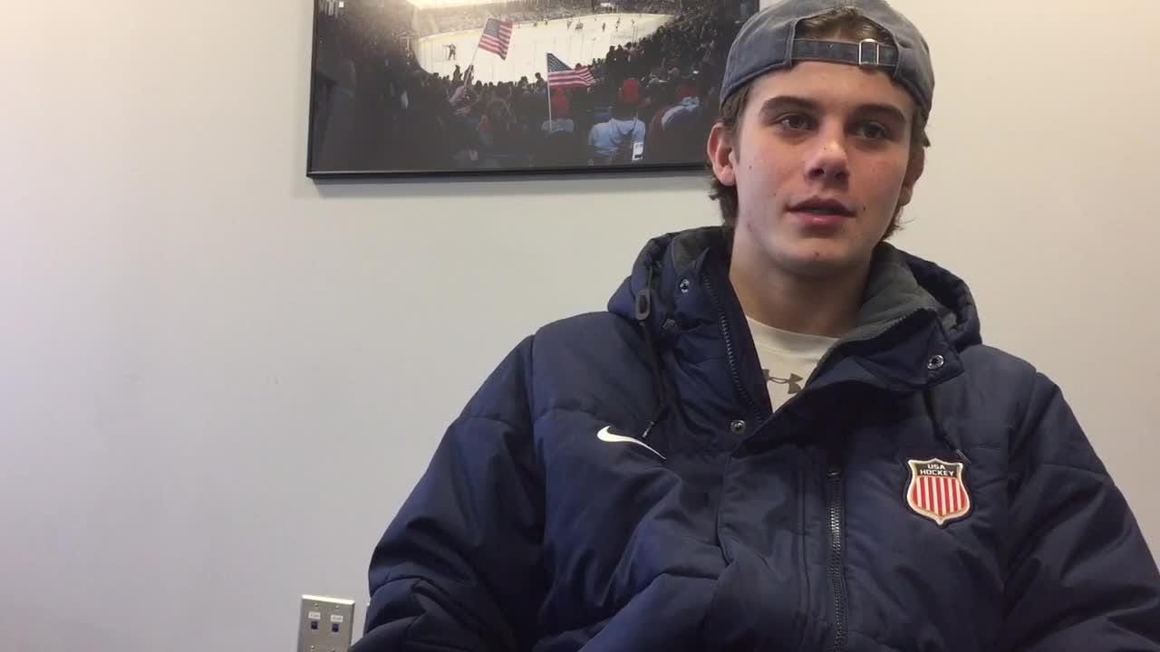 Jack Hughes is projected to go No. 1 overall in the 2019 NHL draft. The Detroit Red Wings would like the rights to select him.