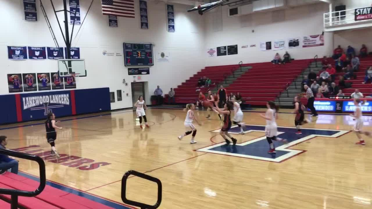 Lakewood made six late 3-pointers to overcome a 14-point deficit and beat New Lexington 58-50 in overtime.