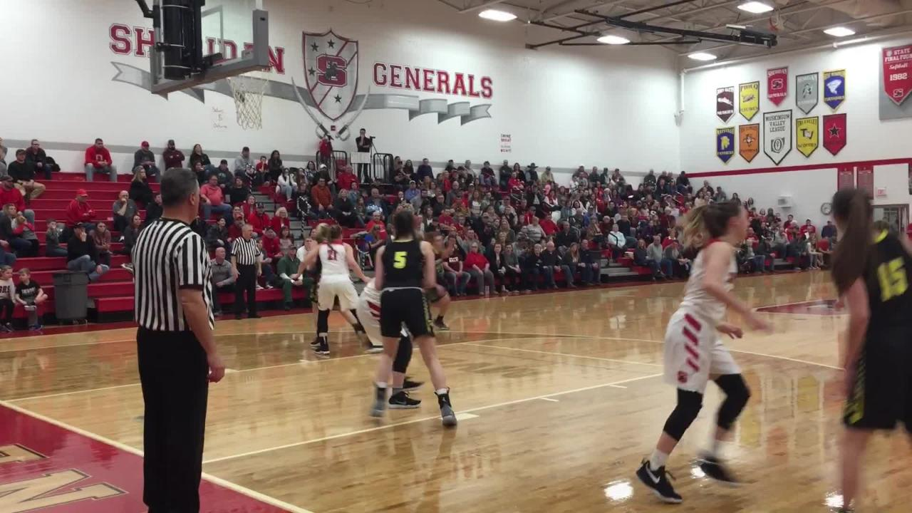 Sheridan overcame sloppy play to beat Tri-Valley 38-34, claiming a third straight MVL crown.