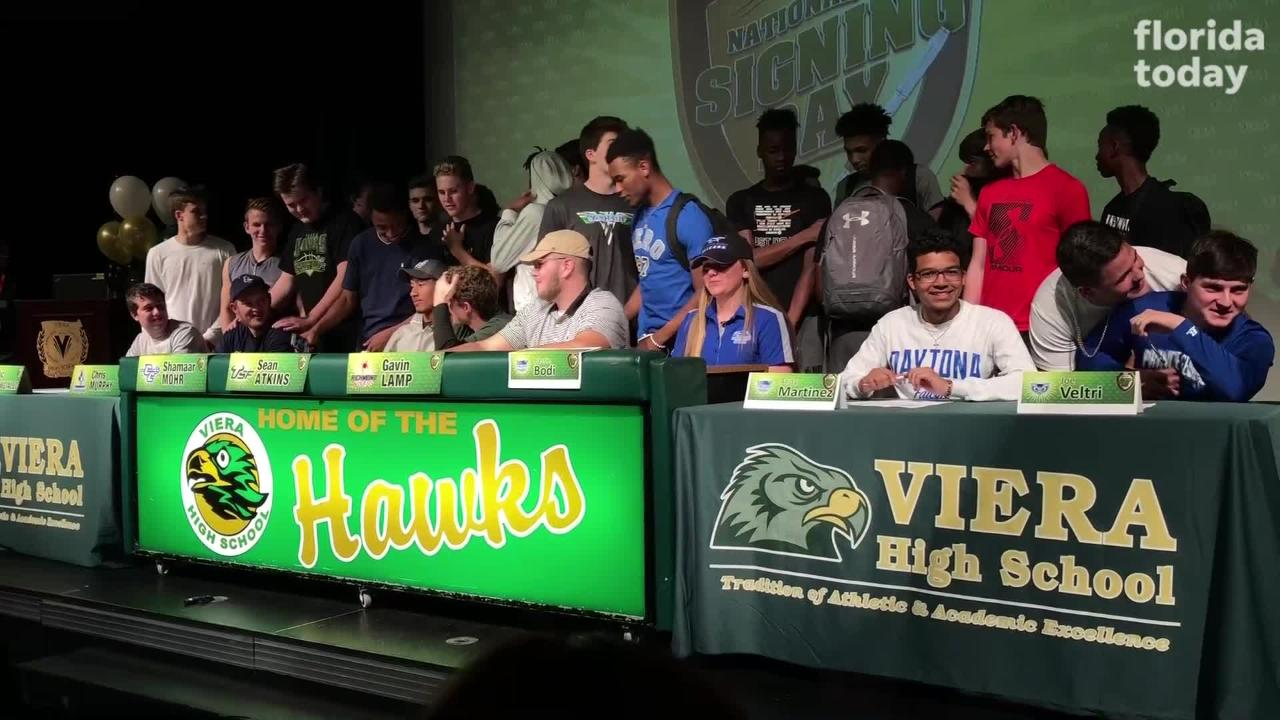Eight student athletes signed to continue their education at the next level on National Signing Day