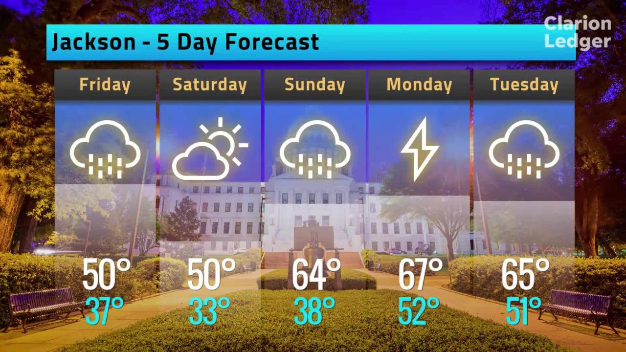 Jackson Weather Forecast, Thursday, Feb. 7, 2019