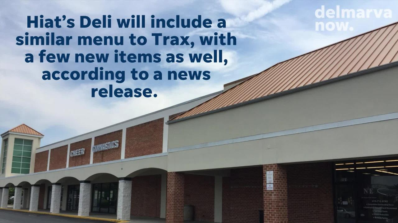 One of Salisbury's well-known establishments, Trax Deli, is expanding with a second location under the name Hiat's Deli.