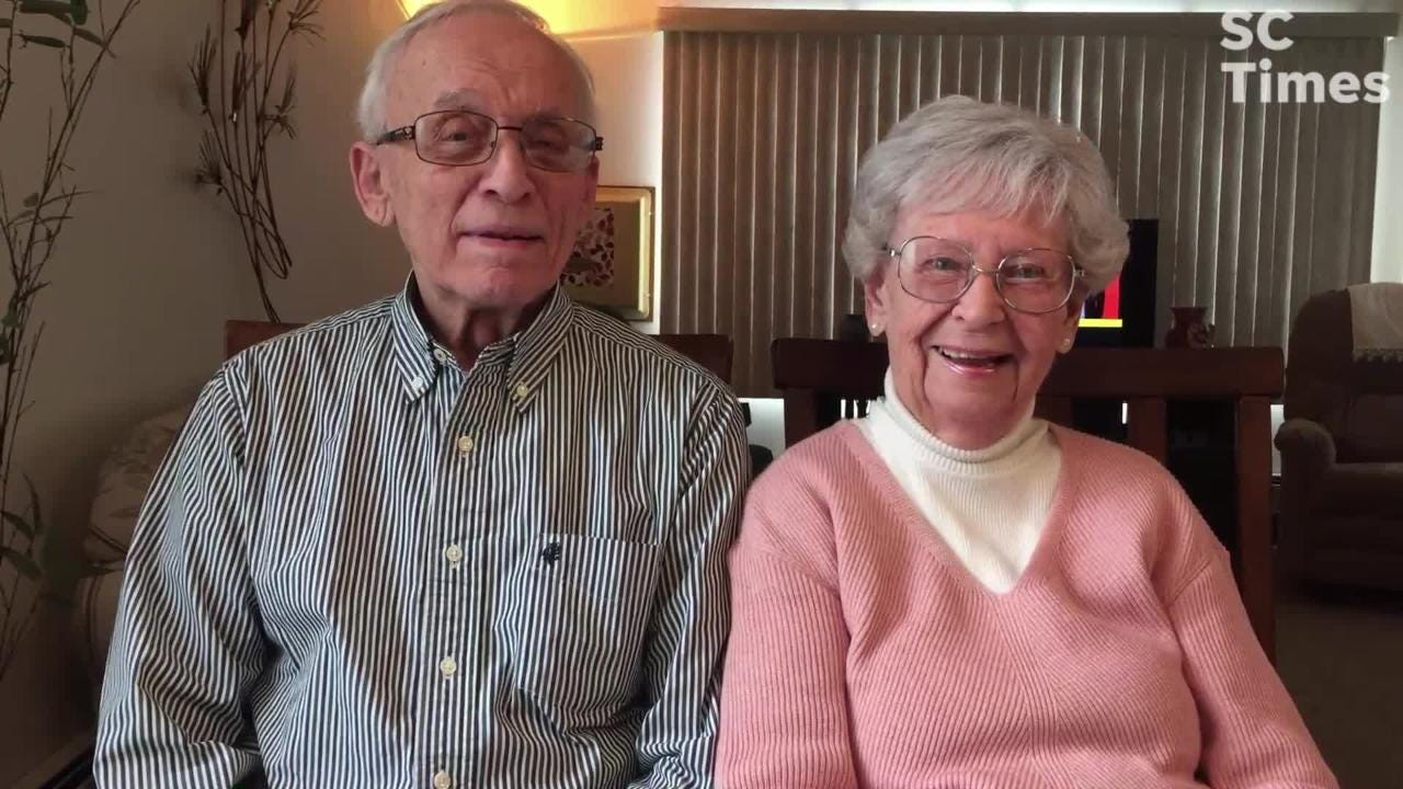 Marcel Tadych and Doree Canfield met in parochial school in the 1930s. Married 60 years later, they now dance the jitterbug and hop polka every week.
